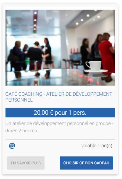 CAFÉ COACHING - ATELIER DE DÉVELOPPEMENT PERSONNEL