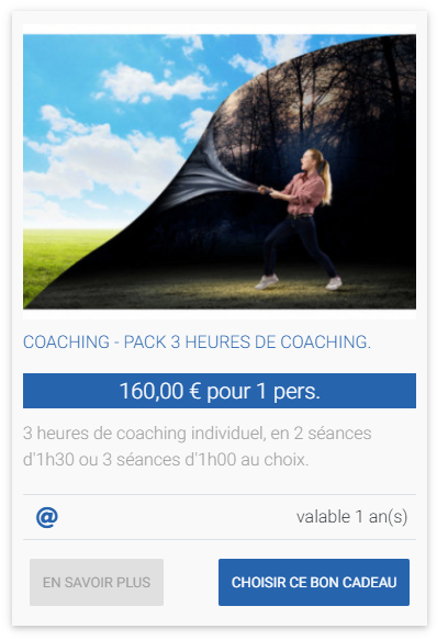 COACHING - PACK 3 HEURES DE COACHING